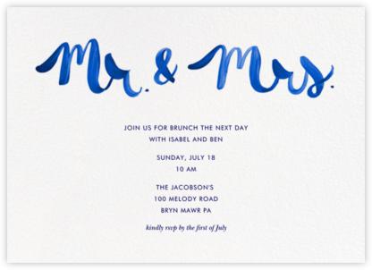 Mr. & Mrs. - Blue - Linda and Harriett - Wedding weekend