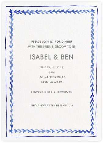 Branch Border - Tall - Linda and Harriett - Wedding Weekend Invitations