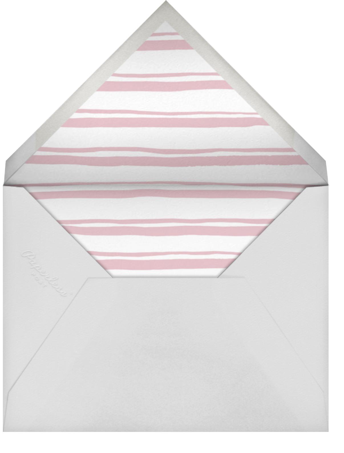 Pink Watercolor - Linda and Harriett - Adult birthday - envelope back