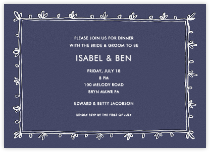 Brushed Border - Navy - Linda and Harriett - Wedding Weekend Invitations
