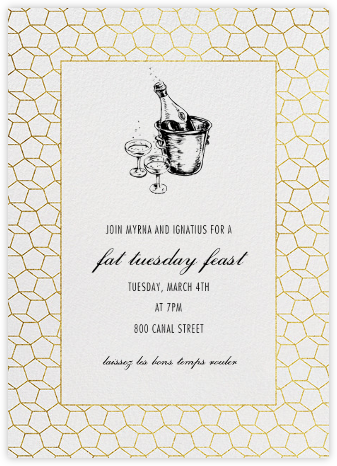 Fullerene - Gold - Paperless Post - Mardi Gras invitations