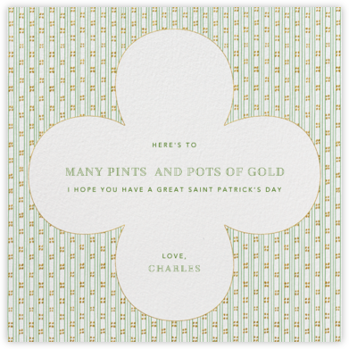 Striped Clover - Paperless Post - St. Patrick's Day cards