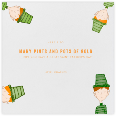 Leprechauns - Paperless Post - Holiday cards
