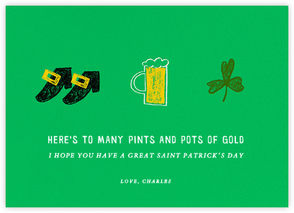 Paddy's Pint - Paperless Post - Holiday cards