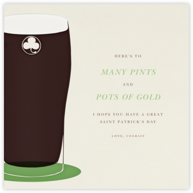Pint of Stout - Paperless Post - St. Patrick's Day cards