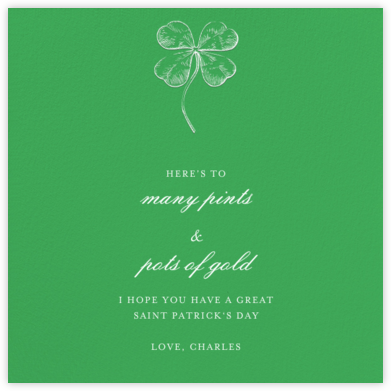Emerald (Square) - Paperless Post - St. Patrick's Day cards