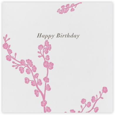 Cherry Blossoms - Paperless Post - Birthday Cards for Her