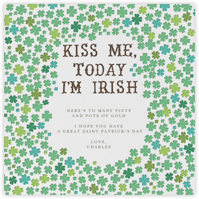 Kiss Me Im Irish - Mr. Boddington's Studio - St. Patrick's Day cards