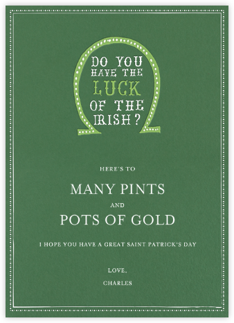 Luck of The Irish - Moss - Mr. Boddington's Studio - St. Patrick's Day cards