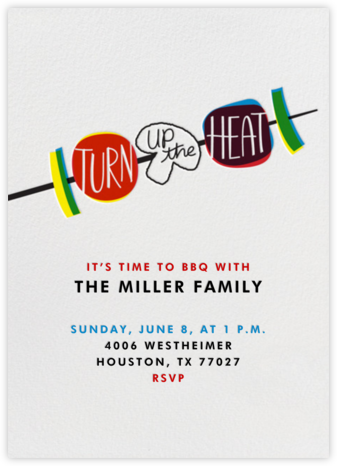 Turn Up The Heat - Crate & Barrel - Online Party Invitations