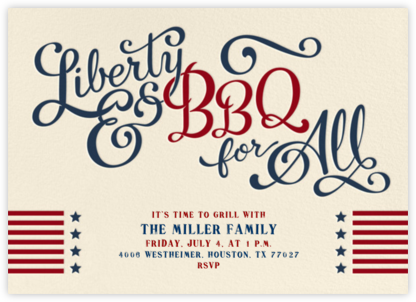 Liberty and BBQ for All | horizontal