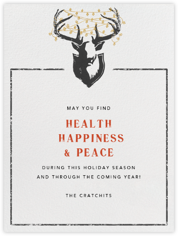 Antler Tangle - Tall - Paperless Post - Holiday Cards