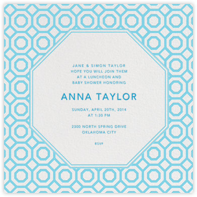 Nixon - Baby Blue - Jonathan Adler - Baby Shower Invitations