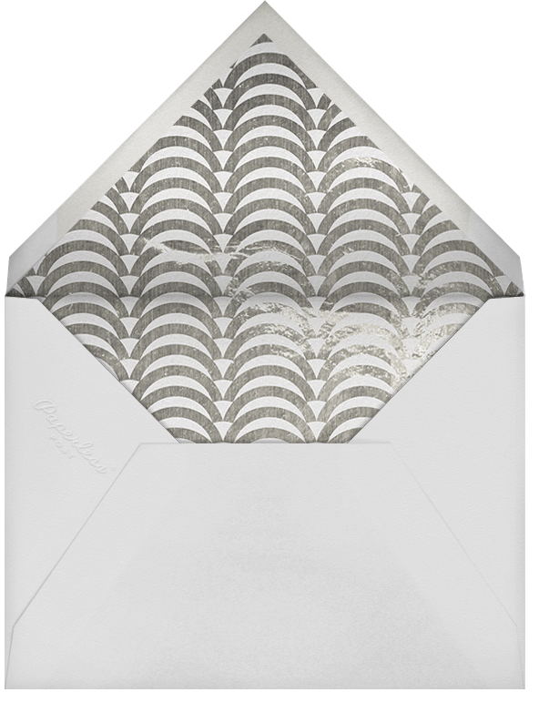 Arches - Silver - Jonathan Adler - Save the date - envelope back