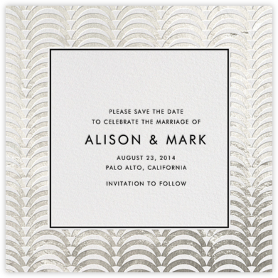 Arches - Silver - Jonathan Adler - Save the dates