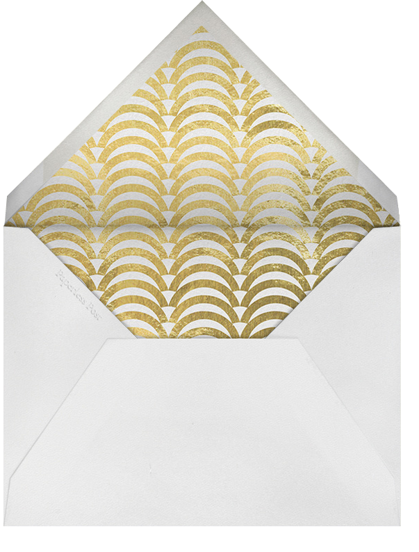 Arches - Gold - Jonathan Adler - Party save the dates - envelope back