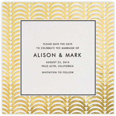 Arches - Gold - Jonathan Adler - Before the invitation cards