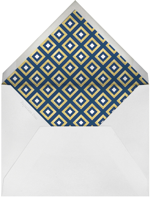 Bobo - Navy and Gold - Jonathan Adler - Party save the dates - envelope back