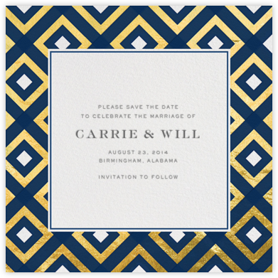 Bobo - Navy and Gold - Jonathan Adler - Save the dates