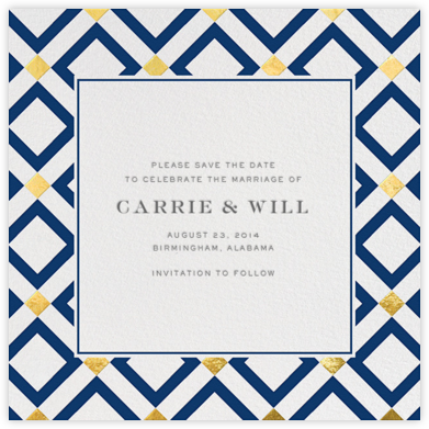 Bobo - Gold and Navy Blue - Jonathan Adler - Save the dates