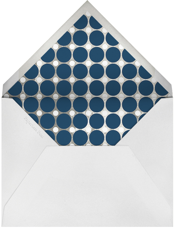 Polka - Navy and Silver - Jonathan Adler - Party save the dates - envelope back