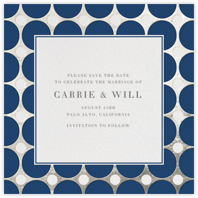 Polka - Navy and Silver - Jonathan Adler - Party save the dates
