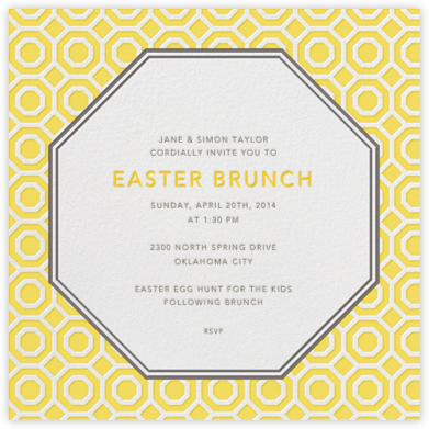 Nixon - Mustard - Jonathan Adler - Easter invitations