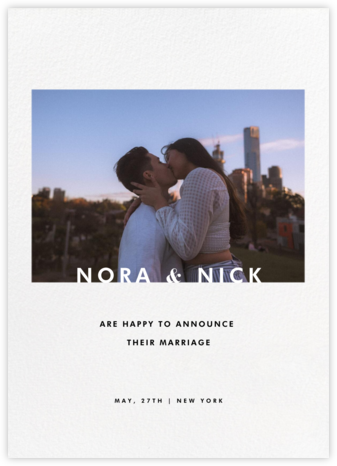 Horizontal Photo on Tall - Paperless Post - Wedding Announcements