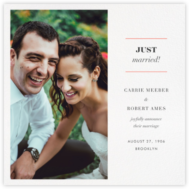 Split Square - Paperless Post - Wedding Announcements