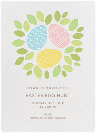 Easter Nest - Petit Collage - Easter Invitations