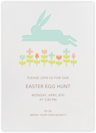 Leaping Rabbit - Petit Collage - Easter invitations
