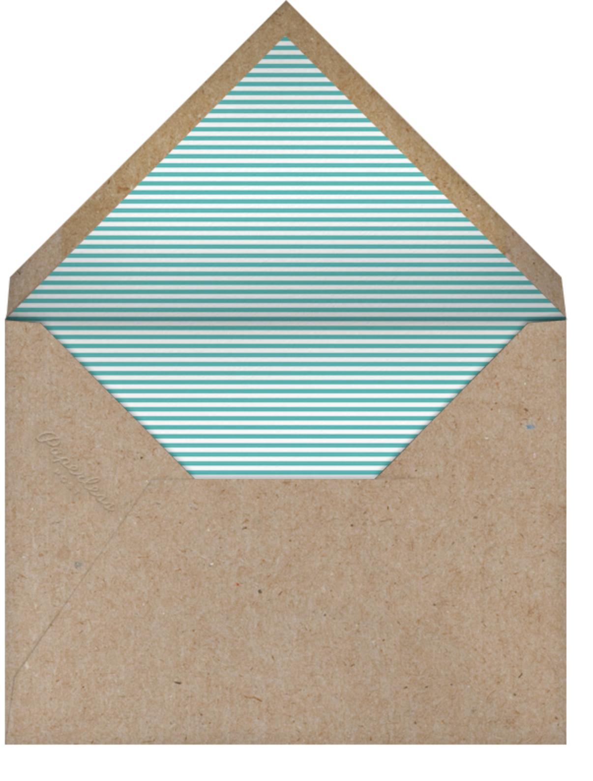 Forest Parade (Double-sided) - Woodgrain - Petit Collage - Woodland baby shower - envelope back