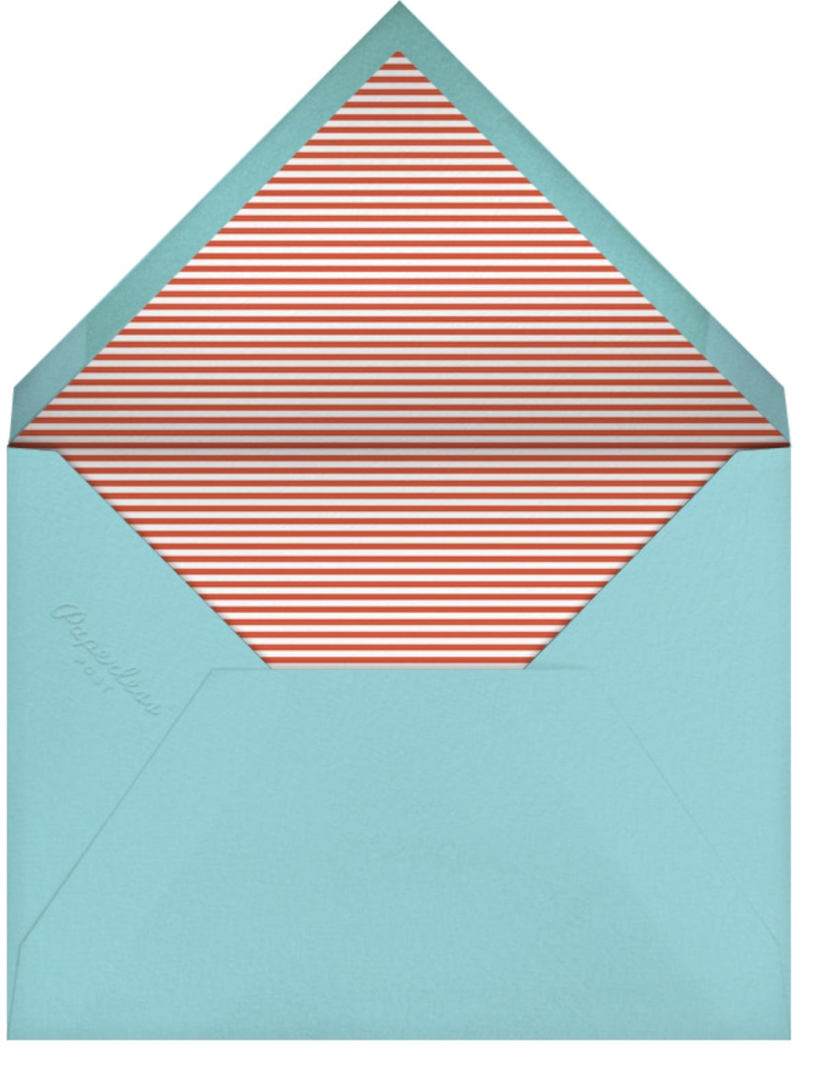 Forest Parade (Double-sided) - White - Petit Collage - Woodland baby shower - envelope back