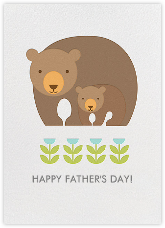 Bear and Baby - Petit Collage - Father's Day Cards