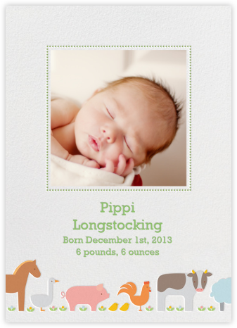 Farm Line - Petit Collage - Birth announcements