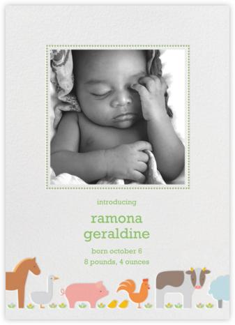 Farm Line - Petit Collage - Birth Announcements