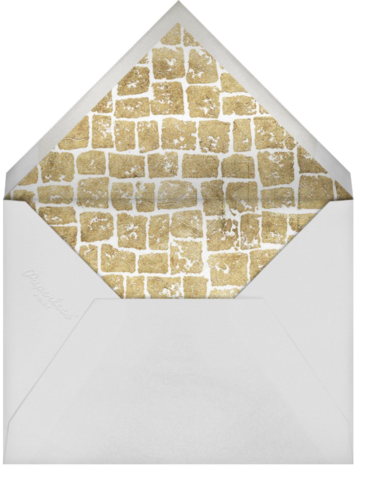 Gilded - Kelly Wearstler - Engagement party - envelope back