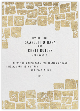 Gilded - Kelly Wearstler - Engagement party invitations