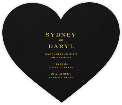 Black and Gold Heart - kate spade new york -