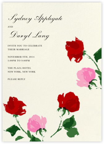 Rose - kate spade new york - Printable Invitations