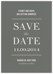 Typographic II (Save the Date) - Gray