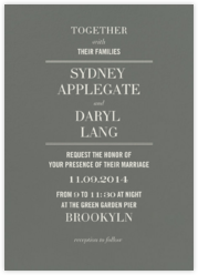 Typographic II (Invitation) - Gray