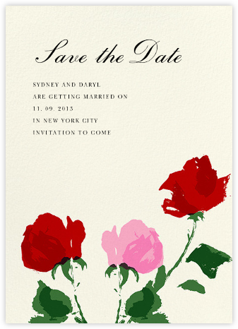 Rose (Save the Date) - kate spade new york - kate spade new york wedding
