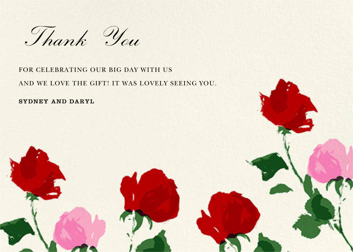 Rose (Thank You) - kate spade new york - Wedding thank you notes