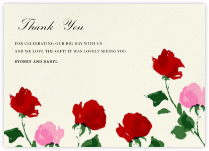 Rose (Thank You) - kate spade new york - Wedding thank you cards