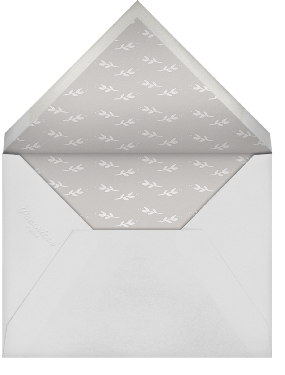 Louisa II - Gray - Paperless Post - All - envelope back