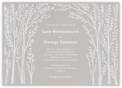 Louisa II - Gray - Paperless Post - Wedding Invitations