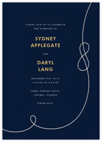 Nautical II (Invitation) - kate spade new york - Online Wedding Invitations