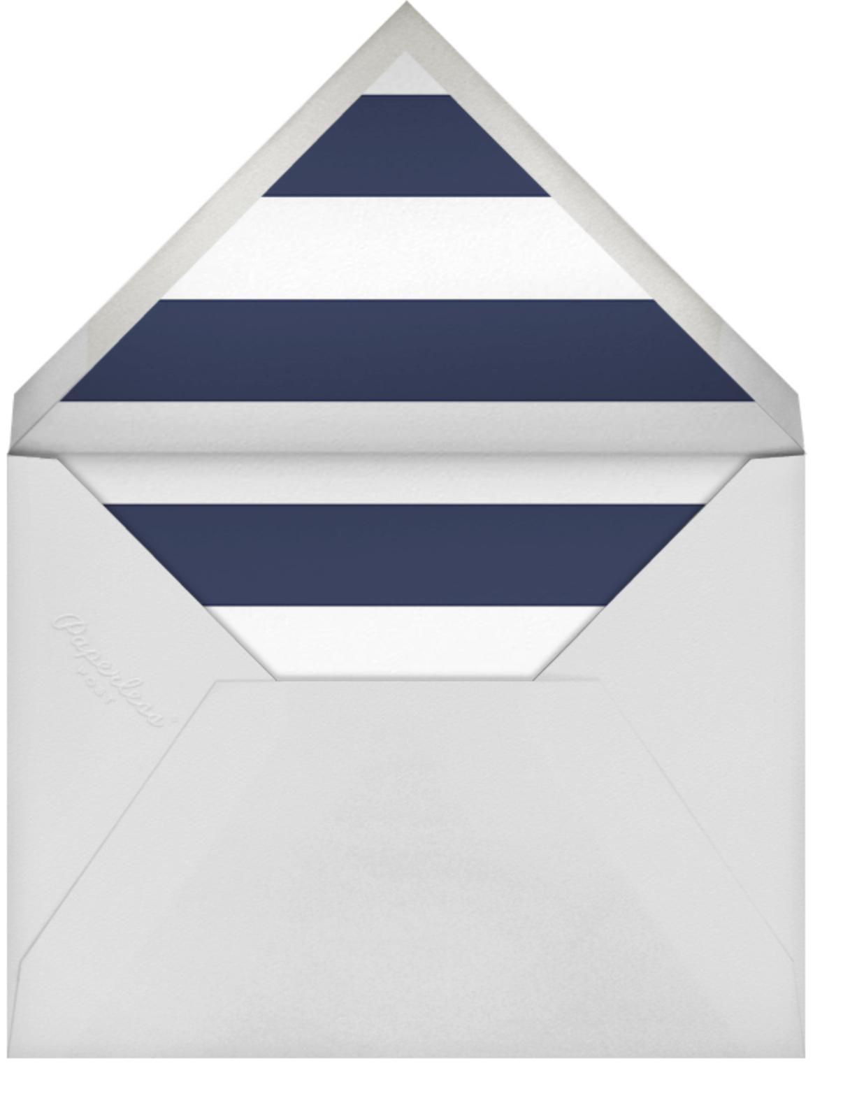 Nautical II (Stationery) - White - kate spade new york - Personalized stationery - envelope back