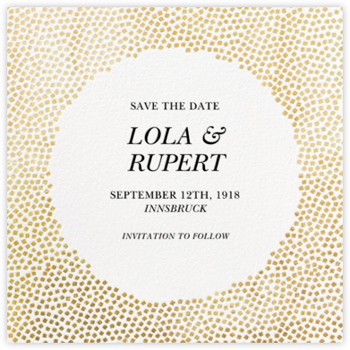 Konfetti - Gold - Kelly Wearstler - Gold and metallic save the dates